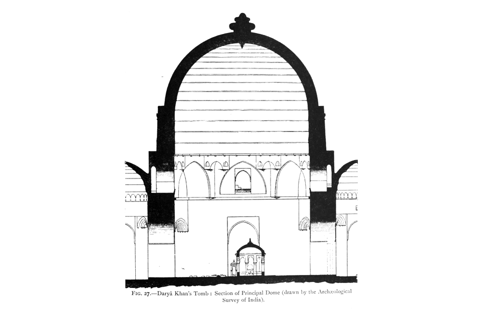 Section of Principal Dome (drawn by the Archaeological Survey of India).