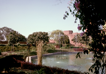 General view, pond with fountains, 1985