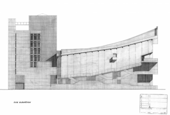 """Side Elevation"", undated drawing"