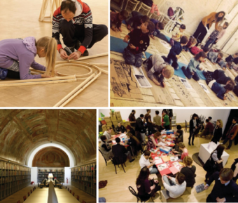 Top left: Workshop conducted in Canadian Centre of architecture; Top right: Workshop conducted at Shchusev Museum of Architecture, Moscow; Bottom right: Workshop conducted in Canadian Centre of architecture; Bottom left: The Swiss Museum has specialized