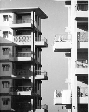 Balconies of type V apartment blocks, Multi-Storeyed Flats at Ramakrishnapuram