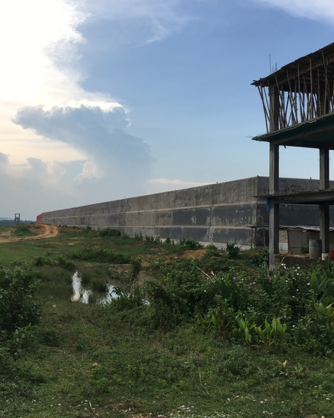 The outer periphery of India's largest detention centre being built at Matia in Goalpara district of Assam.