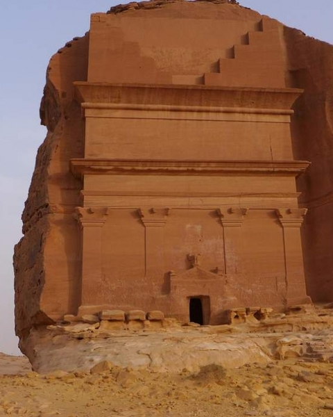 Mada'in Saleh, the archaeological site with the Nabatean tomb from the first century