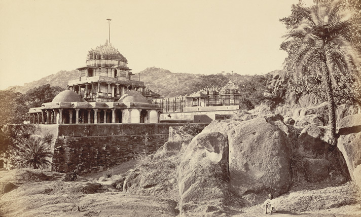 "Plate VII. Mount Abu, The Jain Temples at Delwada in Burgess, James. ""The Temples of Delwada."" In Photographs of Architecture and Scenery in Gujarat and Rajputana"