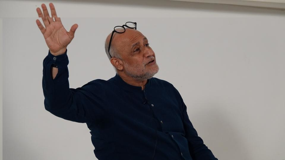 Architect Rahul Mehrotra, at the Godrej Culture Lab masterclass in Mumbai, where he speaks about the study of contemporary architecture and its links to urban living conditions in India.