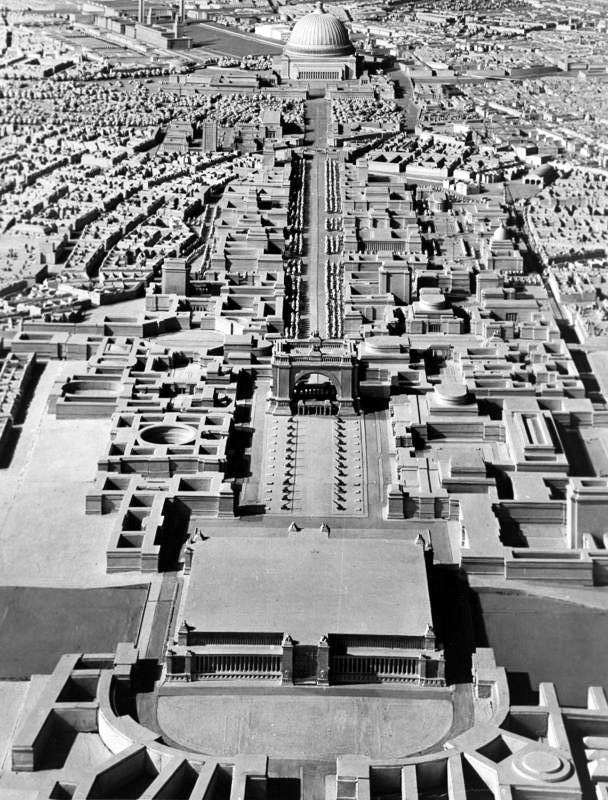 "A model of Hitler's plan for Berlin as ""World Capital Germania."""