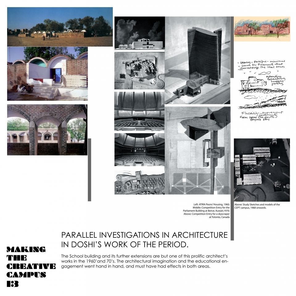 13. Parallel investigations in Architecture in Doshi's work of the period