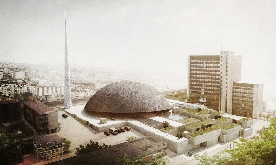 OODA's unsuccessful design for Pristina's new central mosque.