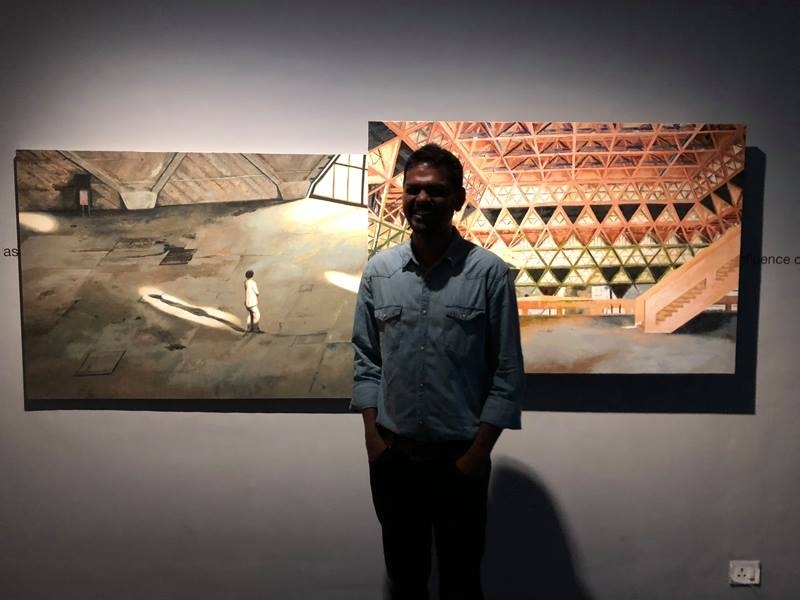 Paribartana Mohanty at Vadehra Art Gallery in Delhi.