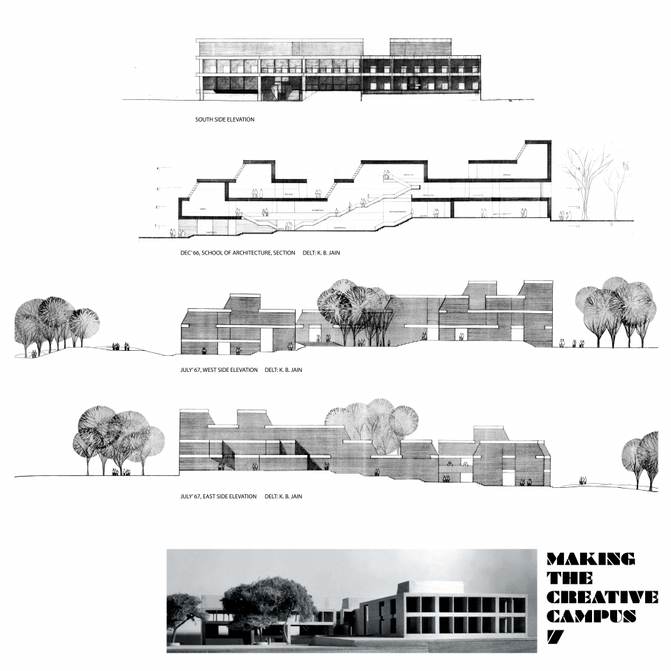 7. Dec '66 – July '67, School of Architecture, Sections and Elevations