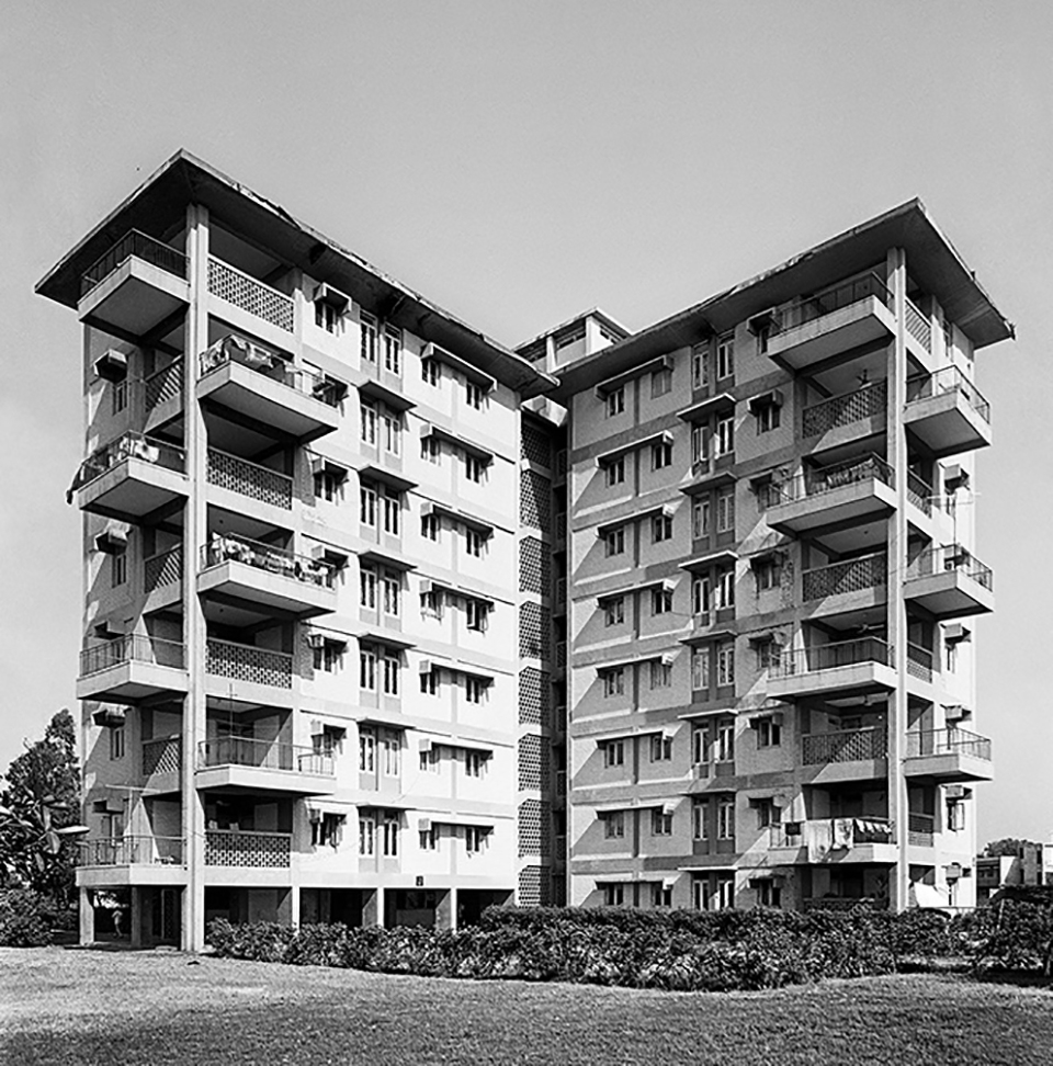 Multi-Storeyed Flats. Ramakrishnapuram, New Delhi, 1965.