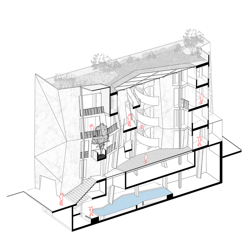 Isometric View, section