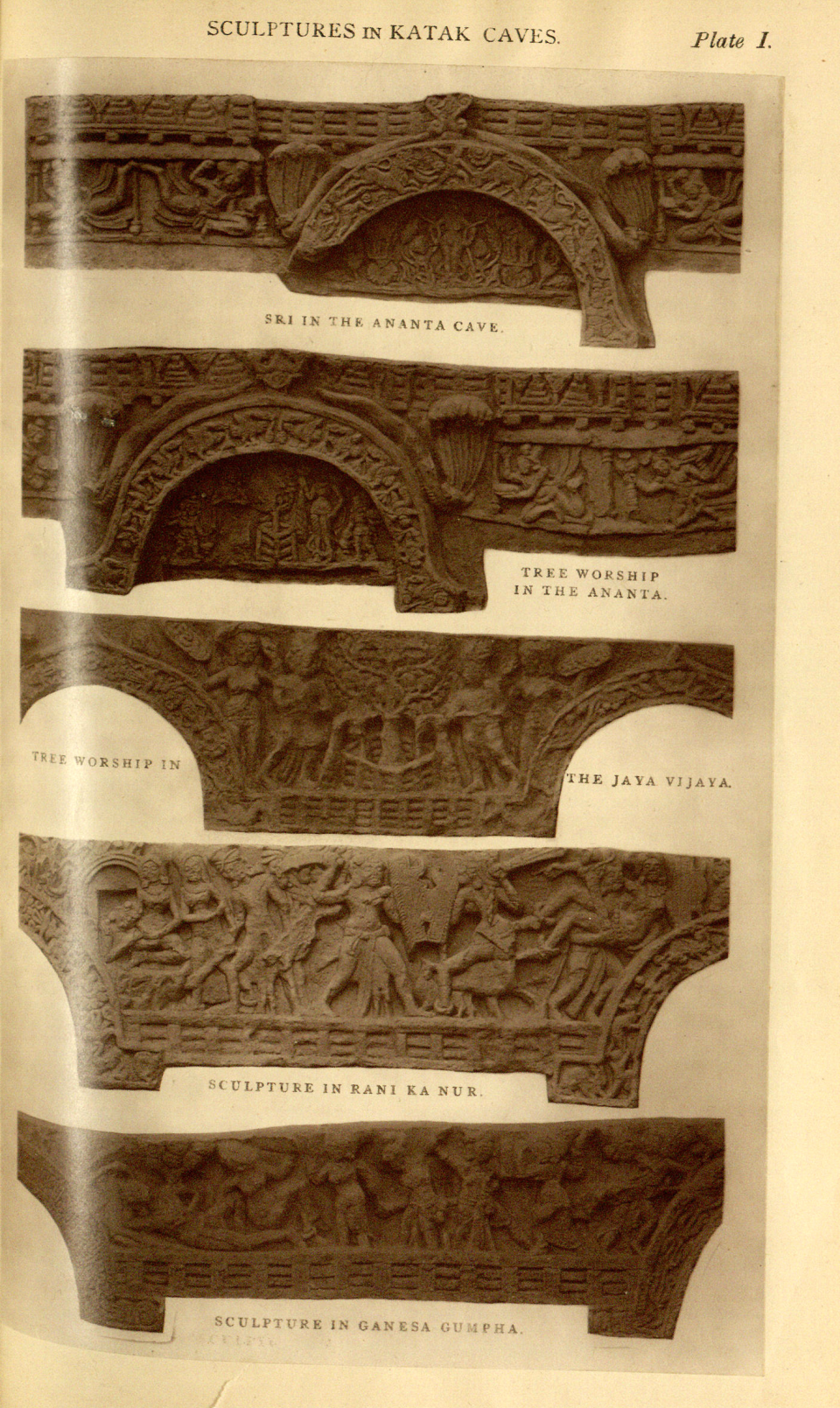 Plate I - Scuptures in Katak Caves