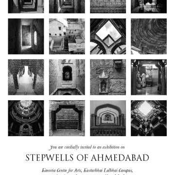 Poster for exhibition Stepwells of Ahmedabad