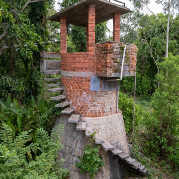 The water tank at Iskcon farm, mahadevapura