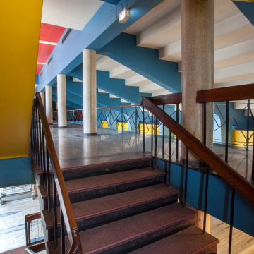 Foyer and Staircase of the Shiela Theatre photographed in 2017-'18