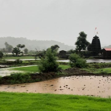 Monsoon in the Sahyadris, a Temple