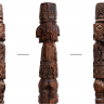 Fig 1. The wooden statue of the Pachacamac Idol.